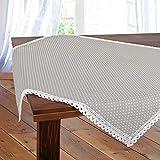 Tischdecke Polka, grau, 85x85 cm Moderne Mitteldecke mit Punkten für das ganze Jahr