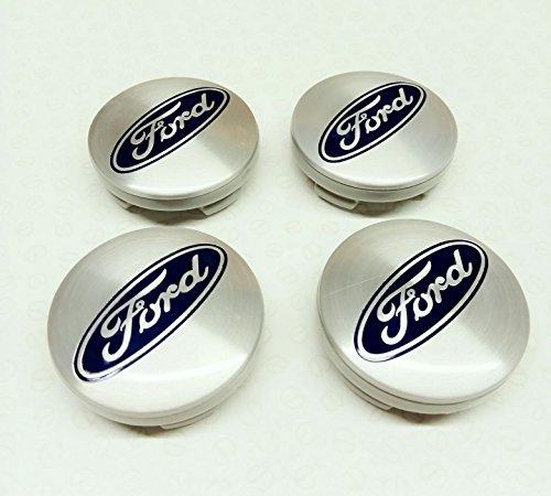 4 x Plata/Azul Logo encaja meist nuevo Modelos 54 mm aleación Ruedas Centro tapas