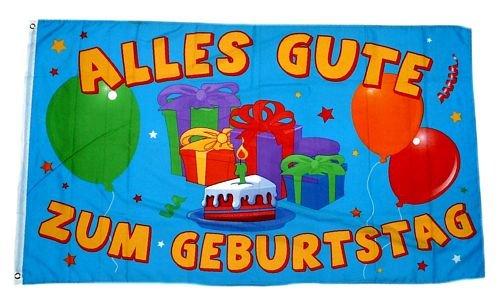 Fahne / Flagge Alles Gute zum Geburtstag 90 x 150 cm