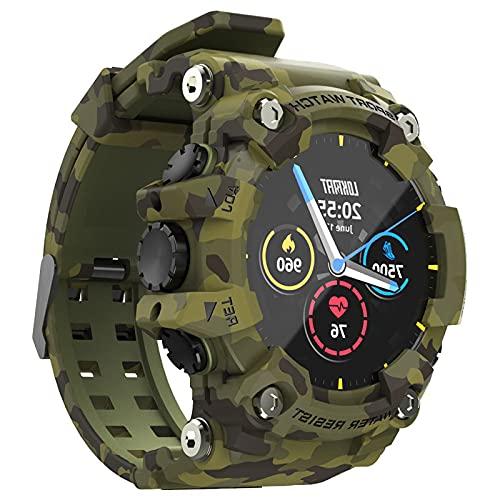 prasku Reloj Inteligente, Rastreador de Ejercicios para Mujeres, Reloj Inteligente con Pantalla de 1,28'con Monitor de Frecuencia Cardíaca Y, Rastread - Verde