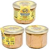 Hoya Santoña Bonito del Norte - Pack 3 tarros de 230g (690g) Conserva Gourmet de Bonito del Norte del Cantábrico en Aceite de Oliva.