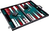 Tablero de Backgammon con Fichas y Dados de Colores