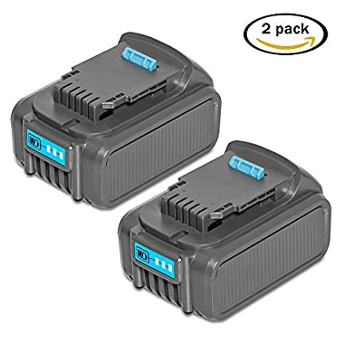 RSTECH 2 Pack DCB205 20V MAX 5.0Ah Lithium Li-ion Replacement Battery for Dewalt Max XR High Capacity Cordless Power Tools DCB204 DCB205-2 DCB200 DCB180 DCD985B DCD771C2 DCS355D1 DCD790B