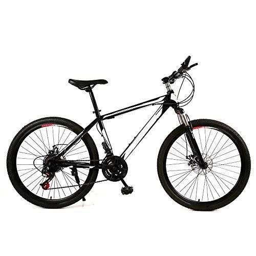 ZLDAN MTB Double disc Bicycle Shift Female Students (Color : Black)