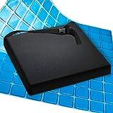 AIESI® Cojín Antiescaras Profesional (Certificado) Memory en poliuretano expandido con cojín interior de gel viscoelástico y cinturón cm 44x44x5h