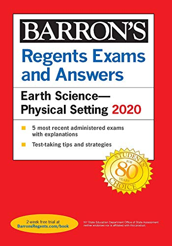 Compare Textbook Prices for Regents Exams and Answers: Earth Science--Physical Setting 2020 Barron's Regents NY  ISBN 9781506253992 by Denecke Jr., Edward J.