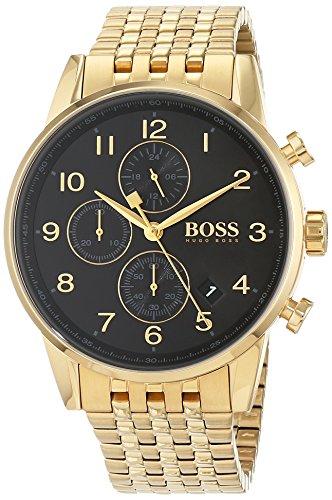 Hugo Boss Herren Quarz Uhr mit Armband 1513531
