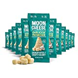Moon Cheese Garlickin' Parmesan, 100% Garlick Parmesan, Low-carb 1 oz, Keto-Friendly, high protein snack alternative to protein bars, cookies, and shakes (12 pack)