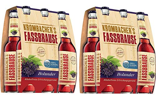 12 Flaschen Krombacher Fassbrause Holunder a 330ml inclusiv 0.48€ MEHRWEG Pfand Bier inc. Pfand