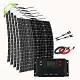 Giosolar 600W 12V Flexible Solar Panel Kit for Motorhome with 50A LCD Charge Controller + Accessory,12 Volts Battery Charging Kit