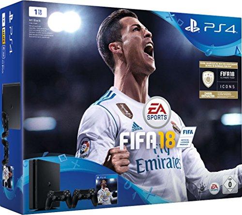 Sony Playstation 4 Slim 1TB incl. 2 Controller / FIFA 18