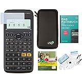Juego de calculadora Casio FX 82 DE X + funda + libro electrónico + juego de geometría + protector de pantalla + CD de aprendizaje