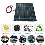 Módulo de panel solar monocristalino de enjoysolar 30W 12V Semi Flexibles Sistema de Panel Solar Dispositivo de Panel Solar Cargador de Batería Silicio Monocristalino Alto índice de Conversión Car