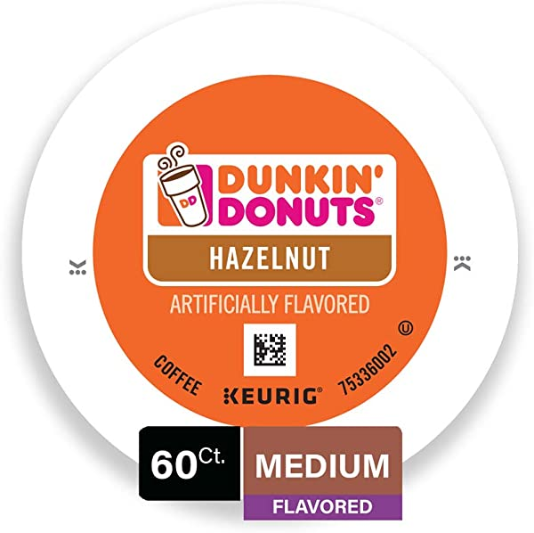 Dunkin Donuts Medium Flavored Hazelnut Coffee 60 K Cups For Keurig Makers