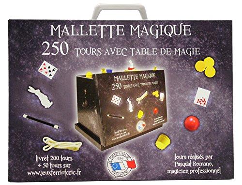 Ferriot Cric 3090 Zauberkoffer mit Zaubertisch, 250Zaubertricks, Blau