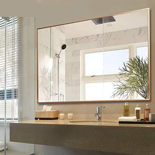Moderne rechteckige Badezimmerspiegel, Wandspiegel Goldrahmen, Kosmetikspiegel, dekorative Spiegel für Schlafzimmer Wohnzimmer Flur