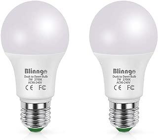 BLINNGO Sensor Lights Bulb Dusk to Dawn LED Light Bulbs Smart Lighting Lamp 7W E26/E27 Automatic On/Off, Indoor/Outdoor Yard Porch Patio Garage Garden(Cool White)