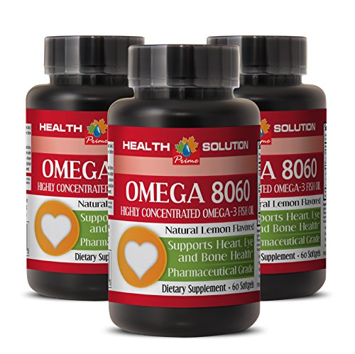 Omega 6 Omega 3 Omega 9 - Omega 8060 Omega-3 Fatty ACIDS - for Eye Health (3 Bottles)