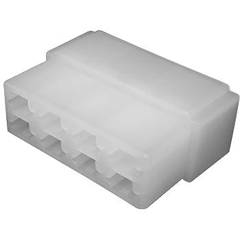 AERZETIX: 10x Conectores Caja de conexion 8 vias para terminales electricos Macho 6.3mm C11673: Amazon.es: Electrónica
