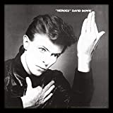 """David Bowie """"Heroes Album Cover Stampa incorniciata, Multicolore, 30,5cm"""