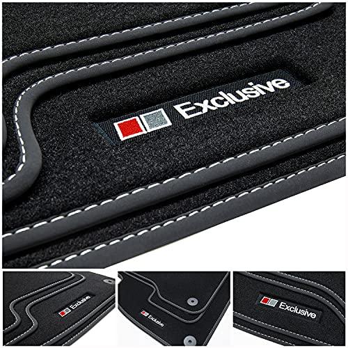 tuning-art E708 Fußmatten Exclusive-Line für Dacia Duster 2 II 2018-, Naht:Silber