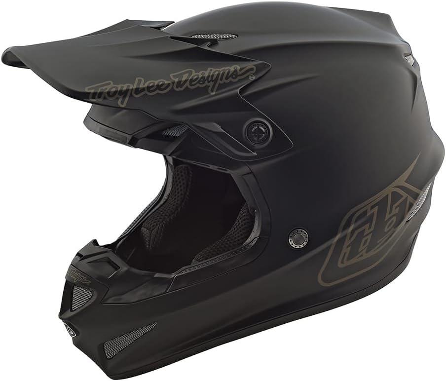 Mono Troy Lee Designs 2019 Youth SE4 Polyacrylite Helmet with MIPS Midnight Black Medium