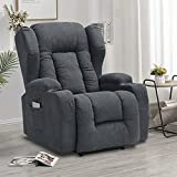 IPKIG Power Recliner Chair with Massage and Heat, Electric...