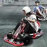 Go Kart,36V Electric Drifting Go Cart for Kids,Outdoor Race Pedal Go Karting Car with Handbrake/Flashing Lights,Go Kart with Adjustable Seat & Belts,Go Carts for Kids Crazy Party. (red)