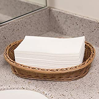 Disposable Guest Towels - Linen Feel Hand Napkins- For KItchen, Dining, Bathroom, Weddings, Parties, & Special Occasions, White Hand Towels (100 Pack)