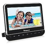Naviskauto Lecteur DVD Voiture pour Enfant 10,1 Pouce Ecran d'appui tête Compatible avec MKV/MP4,Supporte HDMI Input Région Libre USB SD Equipé Chargeur Mural avec Câble AV