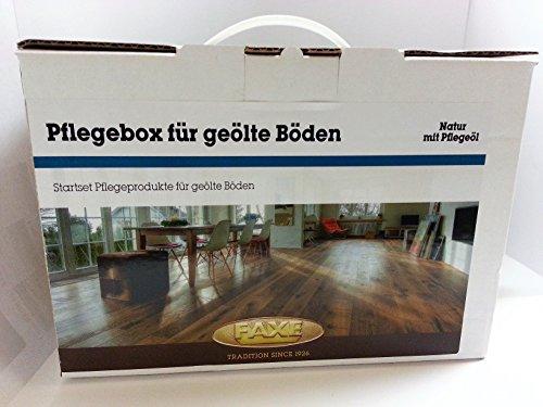 Faxe Pflegebox mit Pflegeöl natur - Bodenpflegeset