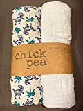 Chick Pea 2PK Muslin Blankets 100% Cotton (Sky Blue)