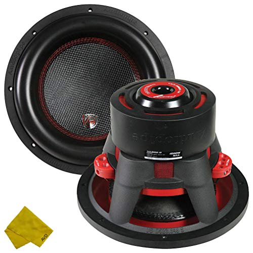 Audiopipe 12″ Car Audio Dealer Line Dual Woofer - 1600 Watt Max Power Surround Sound Stereo Bass Speakers Subwoofer System - 88DB 4 Ohm 4-Layer Dual Coil – Black