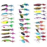 Molto vivo gioco Lunghezza: 4–6cm Peso: 3–6G I colori vivaci e forme porteranno perforazione a un anello elastico stabile Ideale per luccio luccioperca pesce persico e trota