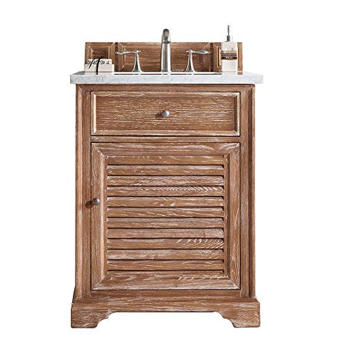 Best Buy! Savannah 26 Single Vanity Cabinet, Driftwood, with 3 CM Grey Expo Quartz Top w/Sink