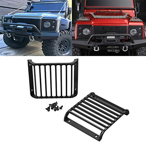 VIDOO 2Pc Front Light Guards Grille Lampenschirm Für Traxxas TRX-4 TRX Land Rover Defender 1/10 Rc Autoteile