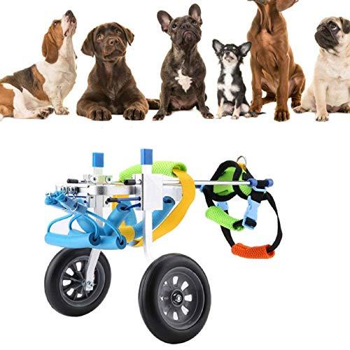Canyita Dog Wheelchair, Dog Cart, Adjustable Dog Wheelchair, Hind Legs Rehabilitation Aid for Aging, Disable, Injured, Arthritis, Weak Dog/Cat/Pet