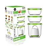 FOSA Vacuum Seal Food Storage System Reusable Container Set with Vacuum and 3 Reusable containers
