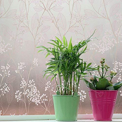 Emmala glasfolie raamsticker voor de badkamer Uniek venster van papier voor ramen gemaakt van waterbestendig papier voor zonwering transparant glasfolie sticker 45 cm breed x 2 m