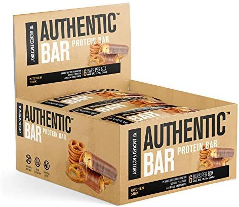 Authentic Bar Kitchen Sink Protein Bars Tasty Meal Replacement Energy Bars w 16g Whey Protein product image