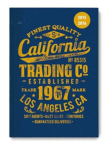 Collegetimer California 2015/2016 - Schülerkalender A5 - Weekly - 224 Seiten