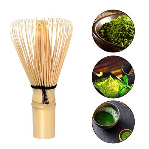 Uzinb Matcha Start Up Kit tè Verde Gift Set Giapponese ha Fatto Beige Ciotola di Legno di bambù Frusta e Paletta
