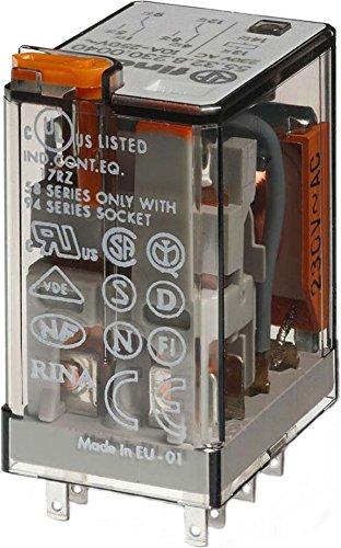 clasificación y comparación Serie Finder 55 – Pantalla de botón de relé de 230 VCA Dos agni + au conmutables para casa