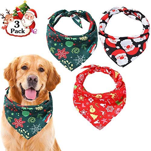 TRAVEL BUS Halstücher für Hunde, dreieckig, für Weihnachten, für kleine und mittelgroße Hunde, Katzen, 3 Stück