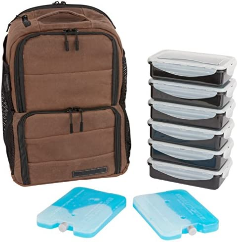 EDC Meal Prep Backpack by Evolutionize Full Meal Management System Holds 6 Meals Includes Portion product image
