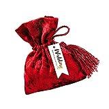 KHBNHJ Bolsas de terciopelo para regalos, 20 bolsas de terciopelo con cordones de terciopelo, bolsa de regalo para joyas, bodas, caramelos, regalos, color rojo