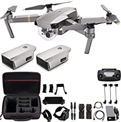 Mavic Pro Platinum, Remote Controller, total 2 Intelligent Flight Batteries, 4 x 8331 Low Noise Propellers (2 Platinum + 2 Gold), Charger et al Extra Dealer's Choice Accessories: Professional Mavic Pro Case, landing Gear extension legs, Sun Shade Len...