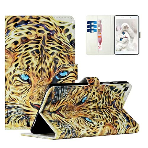 WVYMX Case for Galaxy Tab A 8.0 T290, Cartoon Printed Slim Stand Hard Back Shell Protective Smart Cover for Samsung Galaxy Tab A 8.0 T290/T295 2019 Tiger