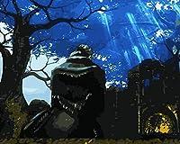 油絵 数字キットによる絵画 塗り絵 大人 手塗り Diy絵 デジタル油絵ダークバックソウルソウル-Diyフレーム 40* 50 Cm