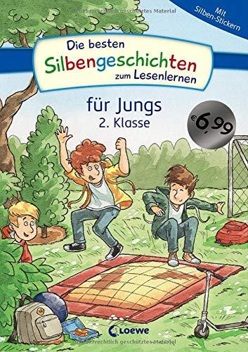 Die besten Silbengeschichten zum Lesenlernen für Jungs 2. Klasse: Erstlesebuch mit farbiger Silbentrennung für Grundschüler ab 7 Jahre